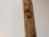 Gesichtet, Skulptur aus Eichen Holz