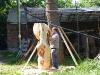 Der Bildhauer aus Hamburg bei der Arbeit
