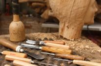 Im Prozess zu einem Portrait aus Holz