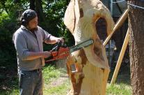 Arbeit an einer Skulptur
