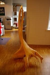 Entstehung einer Skulptur aus Holz