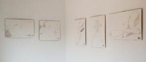 Ausstellung einiger Schichtschnitte in der Galerie Tornberg zu Hamburg