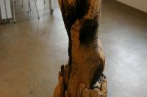 Skulptur aus Holz, Selnstbildnis eins