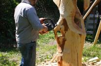 Schnitt einer Skulptur